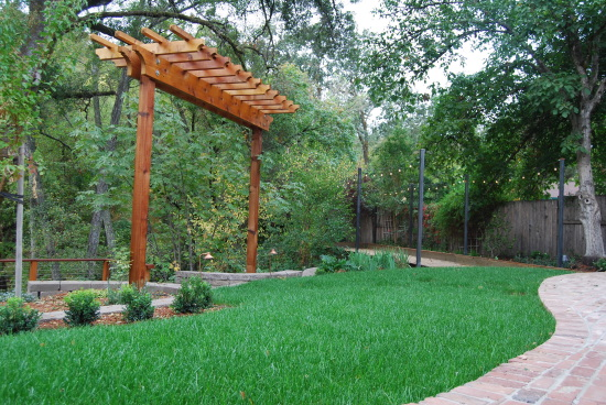French Country Courtyard Inside and Out Landscape Design